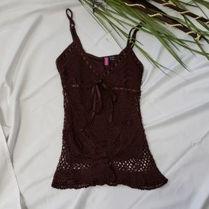 Say What? Crochet Knit Top